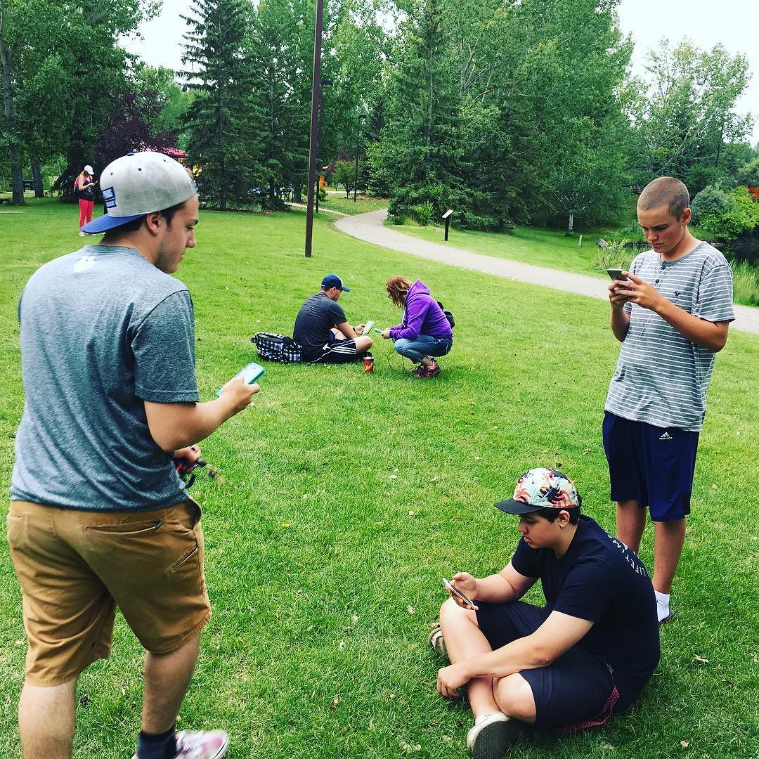 15 Poke Stops and 2 Pokemon Gyms. #BowerPonds #PokemonGo #Pokemon #RedDeer #YQF