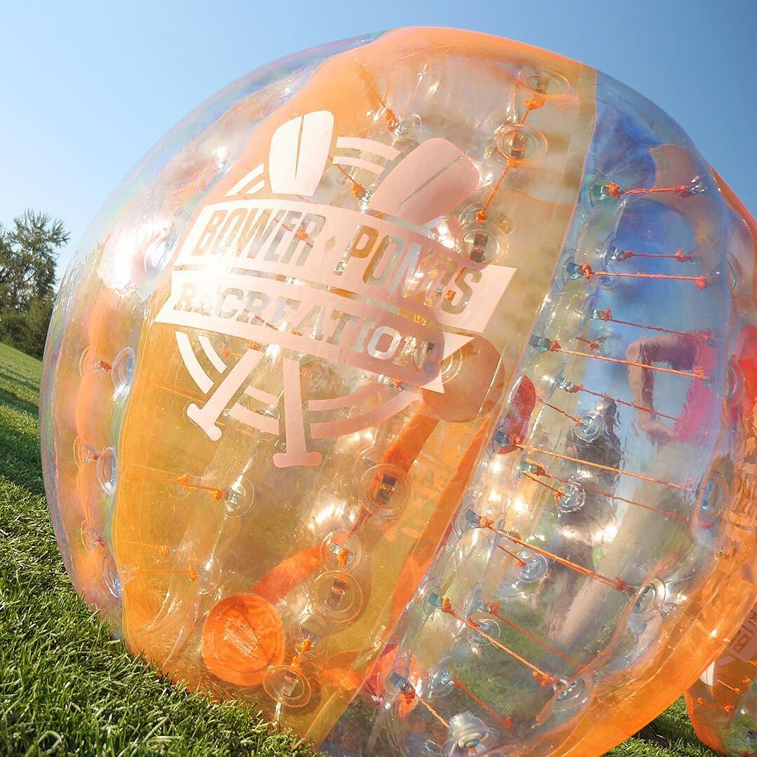 Did you know we rent bumper balls off-site for your parties this summer? #BowerPonds #Recreation #Inflatables #Fun #RedDeer #YQF