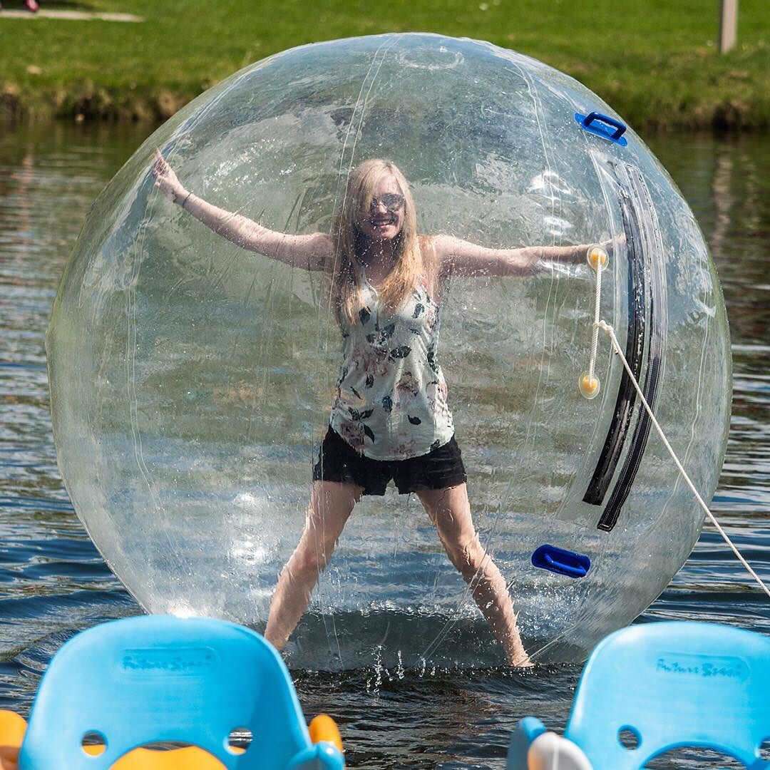 Have you ever walked on water? #Recreation #WaterBalls #BowerPonds #RedDeer #YQF #Water